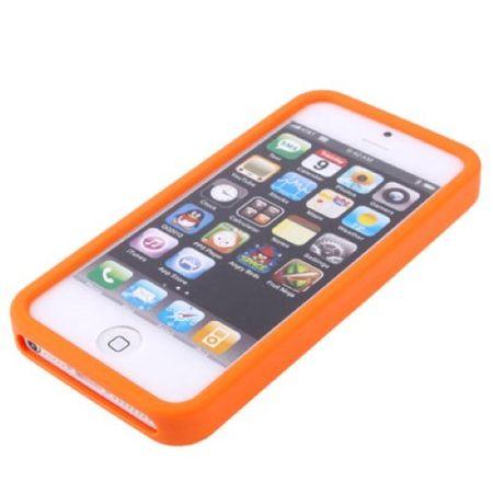 Silikon Hülle Retro Gameboy für Handy iPhone 5 & 5s Orange – Bild 4
