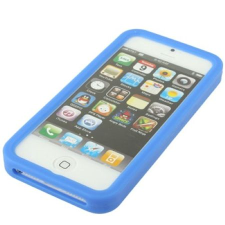 Silikon Hülle Retro Gameboy für Handy iPhone 5 & 5s Blau – Bild 3