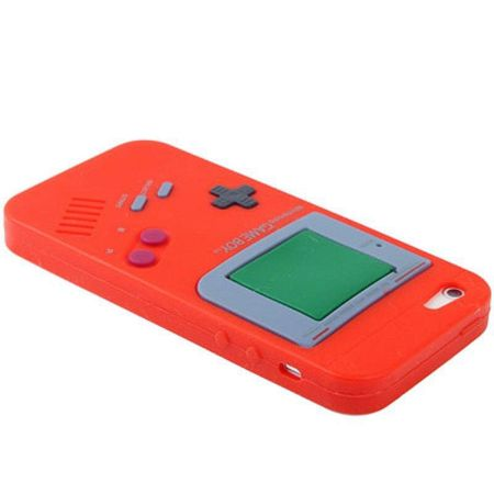 Silikon Hülle Retro Gameboy für Handy iPhone 5 & 5s Rot – Bild 3