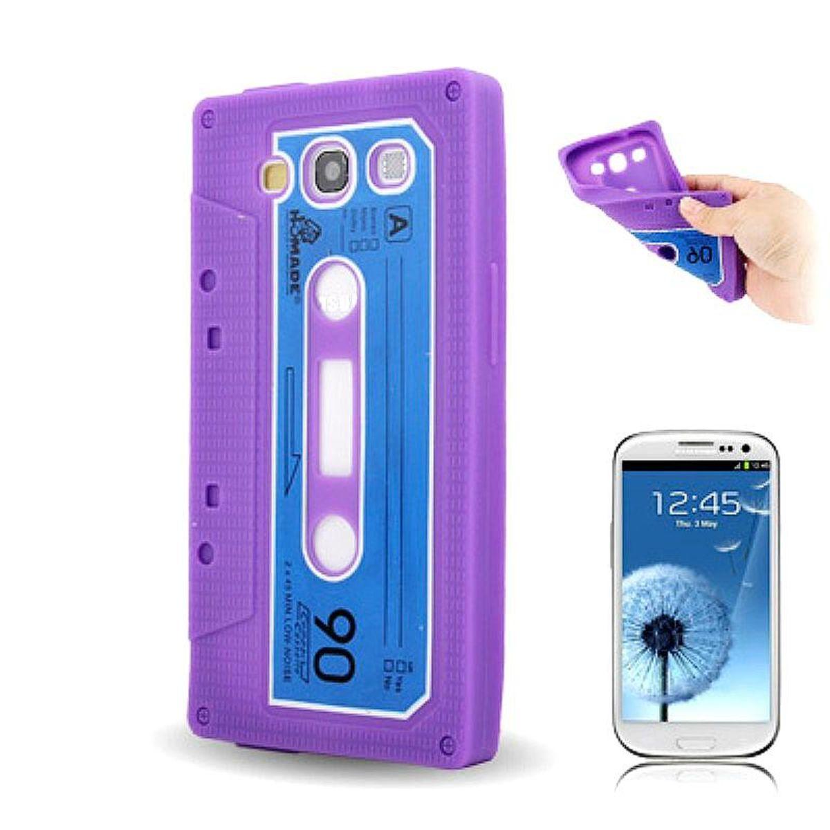 Silikon Hülle Kassette für Handy Samsung I9300 Galaxy S3 Lila