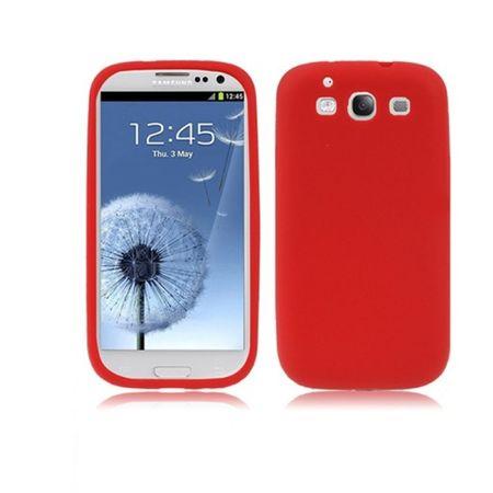 Schutzhülle Silikon Hülle für Handy Samsung I9300 Galaxy S3 Rot