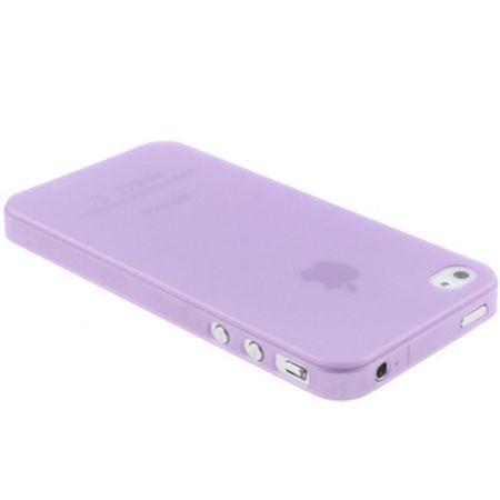 Schutzhülle Case TPU für Handy iPhone 4 & 4S Transparent / Lila