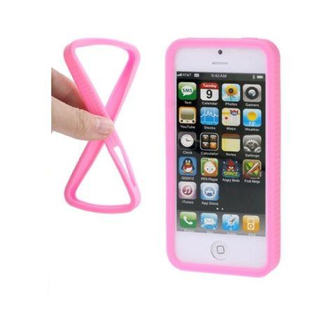 Schutzhülle Silikon Bumper für Handy iPhone 5 & 5s Pink