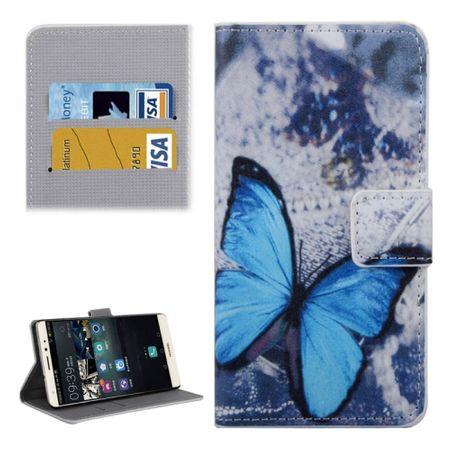 Handyhülle Tasche für Handy Huawei Mate S Blauer Schmetterling