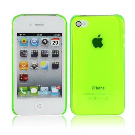 Schutzhülle Hard Case Hülle für Handy iPhone 4 & 4S leuchtgrün