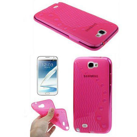 Schutzhülle TPU für Handy Samsung Galaxy Note II / N7100 Rosa / Transparent