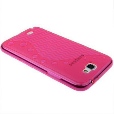 Schutzhülle TPU für Handy Samsung Galaxy Note II / N7100 Rosa / Transparent – Bild 2