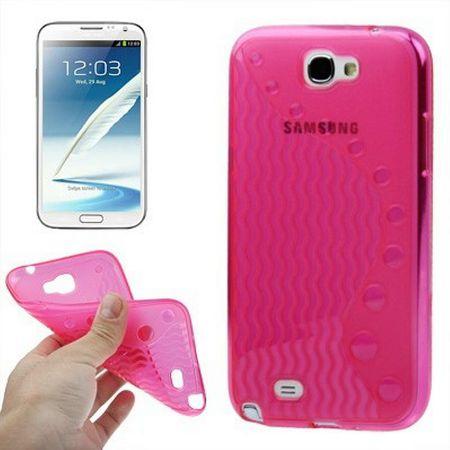 Schutzhülle TPU für Handy Samsung Galaxy Note II / N7100 Rosa / Transparent – Bild 4