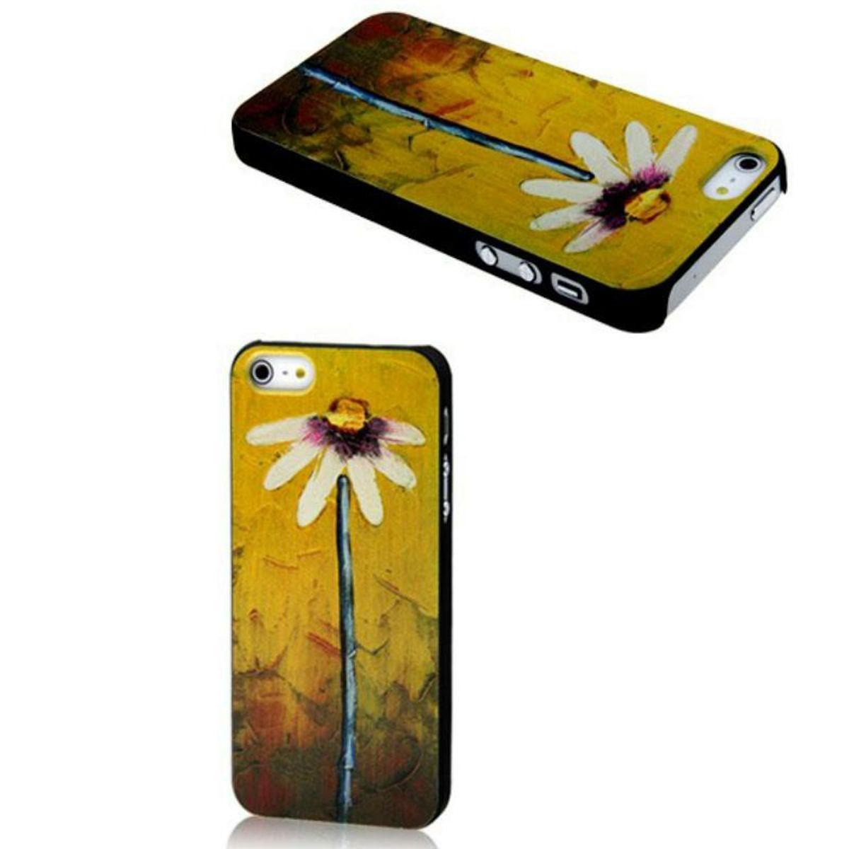 Schutzhülle Case Backcover Hülle Apple iPhone 5 / 5s Blume