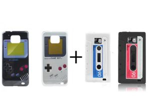2 x Gameboy Hard Case + 2 Kassetten Silikon für Handy Samsung I9100 Galaxy S2