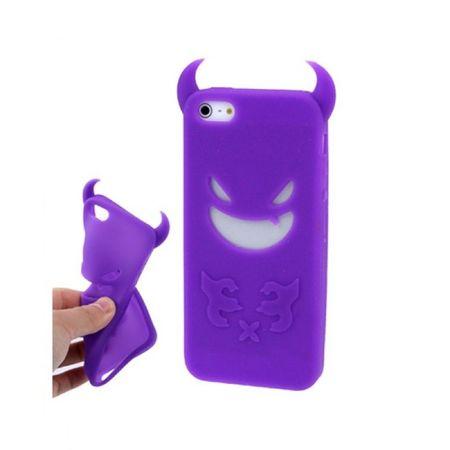 Schutzhülle Silikon Teufel für Handy iPhone 5 & 5s