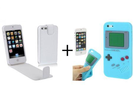Handy Tasche Flip dünn Silikonhülle GameBoy für Handy iPhone 5 & 5s