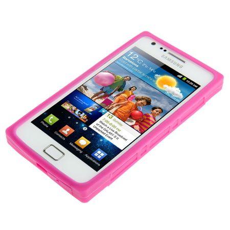 Schutzhülle Kassette für Handy Samsung Galaxy S2 i9100 pink – Bild 2