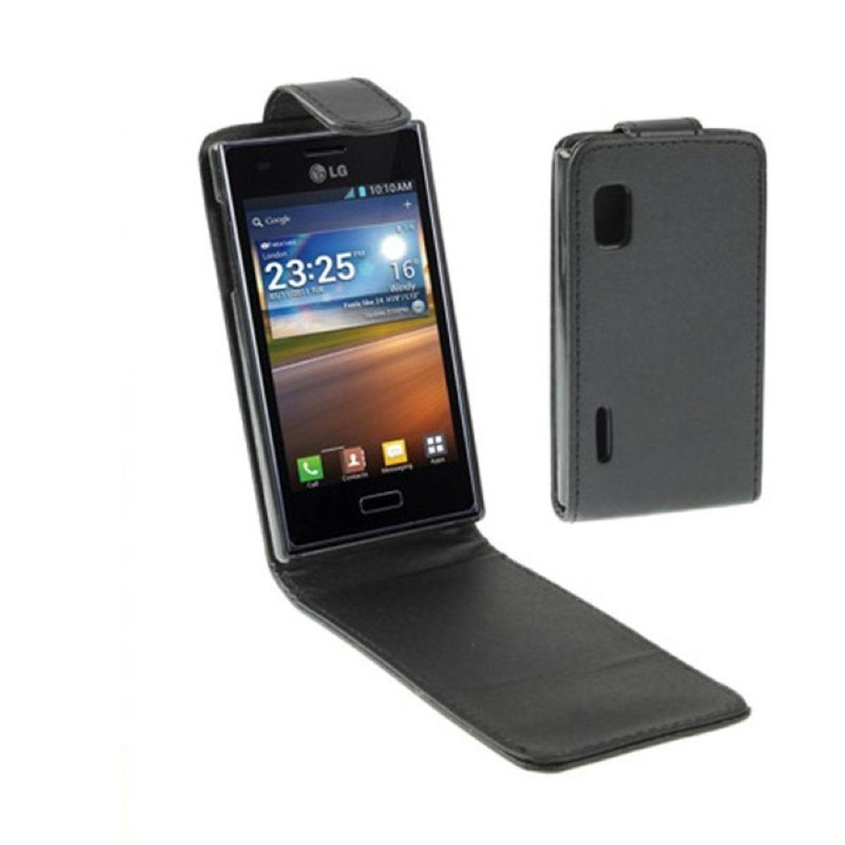 Schutzhülle Flip Tasche für LG Optimus L5
