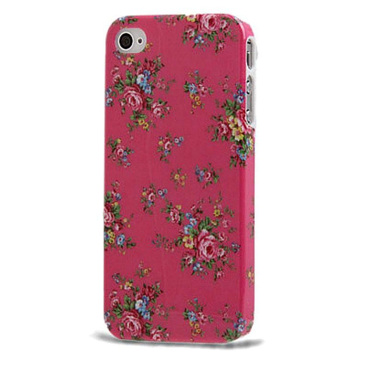 Schutzhülle Hard Case Hülle für Handy iPhone 4 / 4s Rosen / Pink