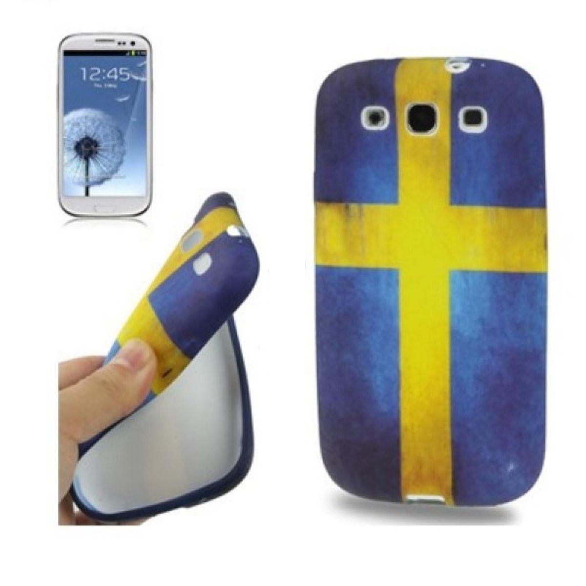 Schutzhülle TPU Case für Handy Samsung I9300 Galaxy S3 Schweden