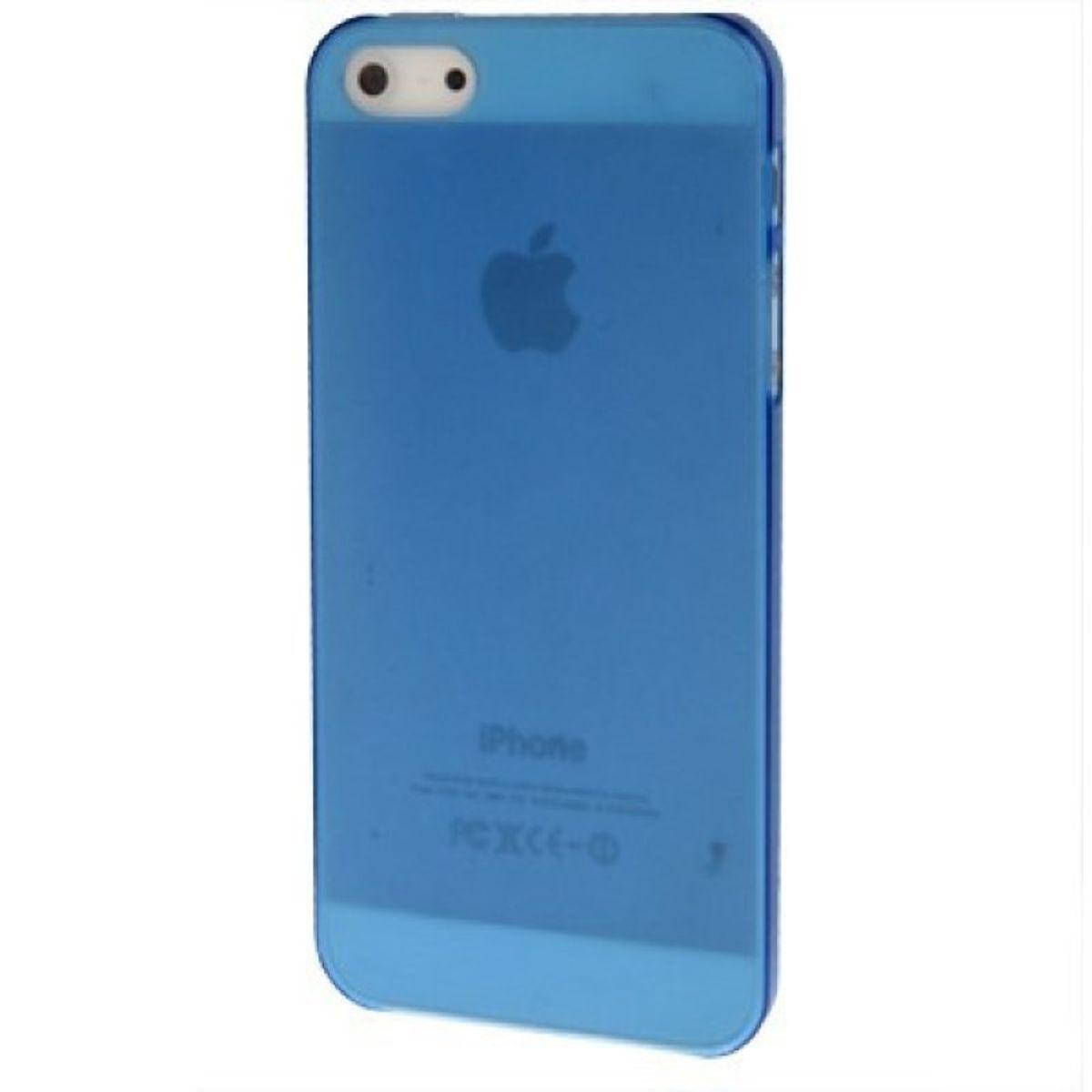 Schutzhülle Ultra Dünn Hülle für Apple iPhone 5 / 5s Transparent Blau