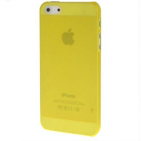 Schutzhülle Ultra Dünn Hülle für Apple iPhone 5 & 5s Transparent Gelb