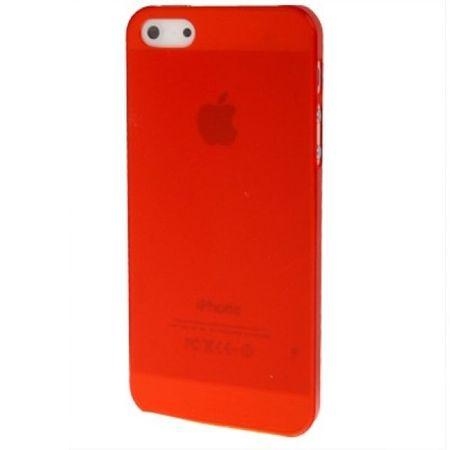 Schutzhülle Ultra Dünn Hülle für Apple iPhone 5 & 5s Transparent Rot
