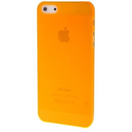 Schutzhülle Ultra Dünn Hülle für Apple iPhone 5 & 5s Transparent Orange