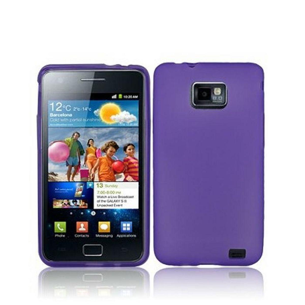 Schutzhülle TPU Case für Handy Samsung I9100 Galaxy S2 Lila