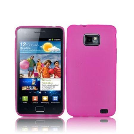 Schutzhülle TPU Case für Handy Samsung I9100 Galaxy S2 Transparent / Pink