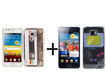 Hülle GameBoy + Kassette Retro für Handy Samsung I9100 Galaxy S2