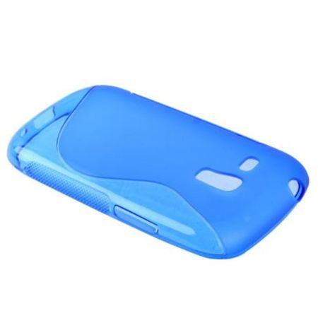 Schutzhülle TPU Case Hülle für Handy Samsung Galaxy S3 mini / i8190 / i8195 / i8200 blau – Bild 3
