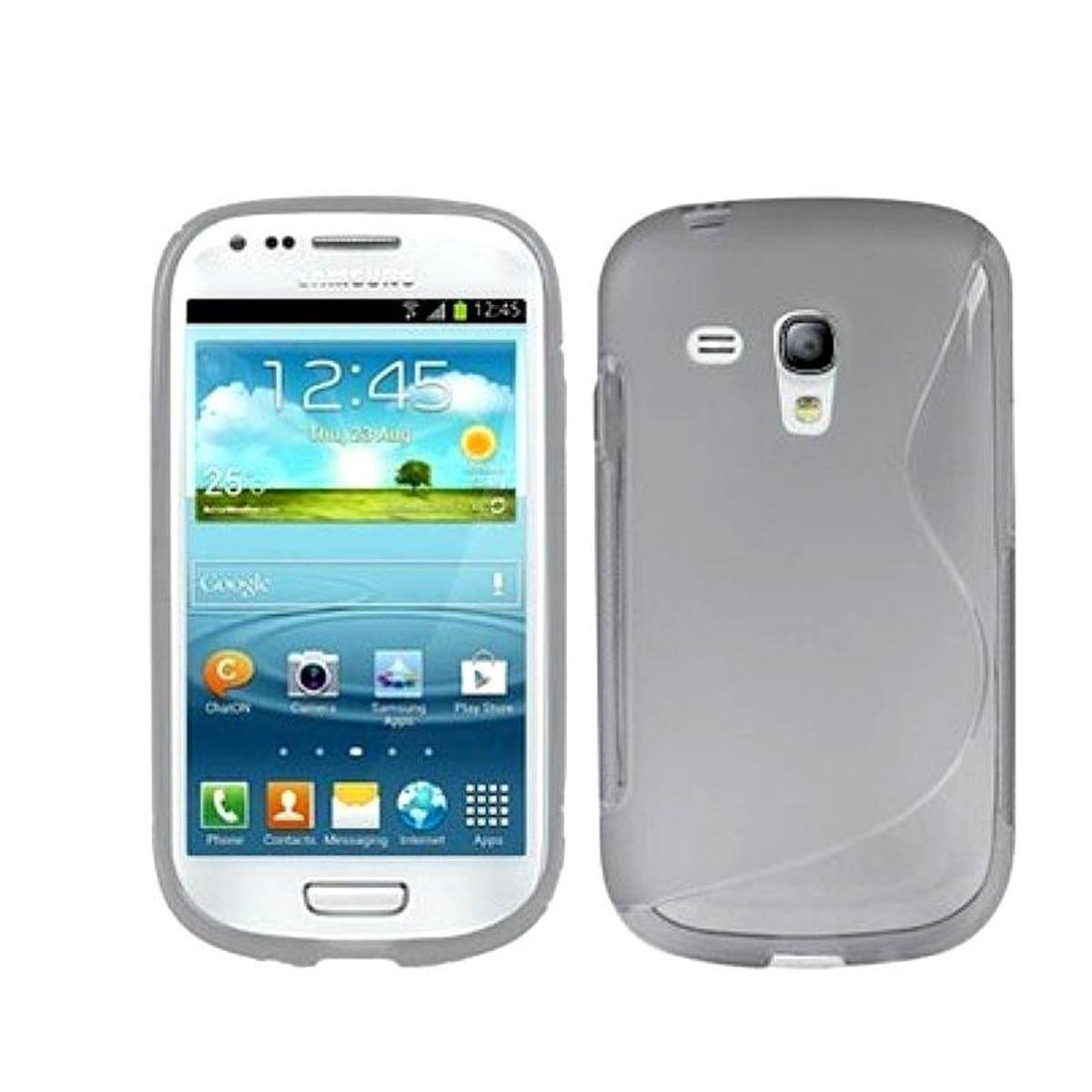 Schutzhülle TPU Case Hülle für Samsung Galaxy S3  Schutzhülle TPU Case Hülle für Samsung Galaxy S3 mini i8190 / i8195 / i8200 grau