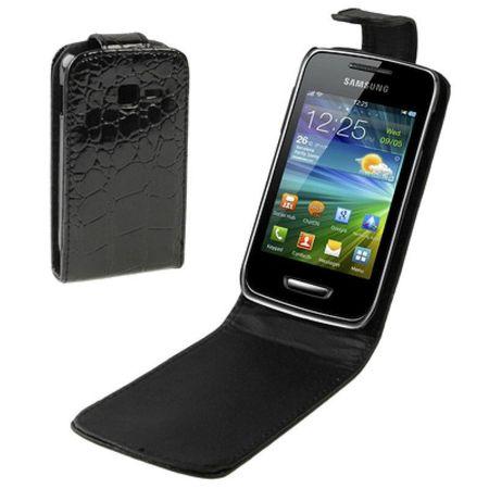 Schutzhülle Flip Tasche für Handy Samsung S5380 Wave Y