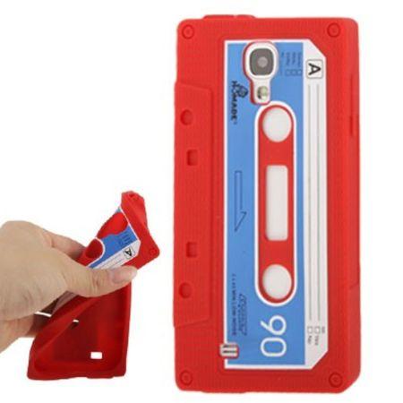 Silikon Hülle Kassette für Handy Samsung Galaxy S4 GT-I9500 / GT-I9505 / LTE+ GT-I9506 / Value Edition GT-I9515 rot