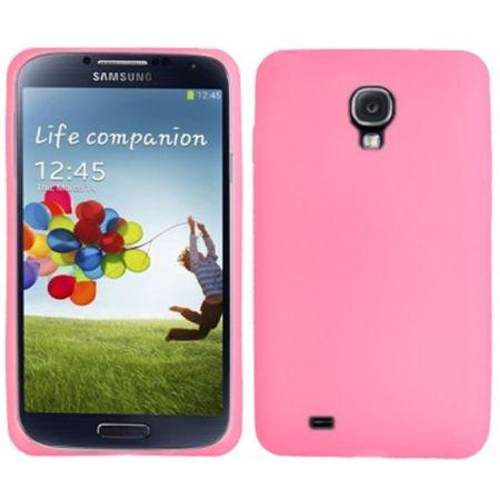 Schutzhülle Silikon Case für Handy Samsung Galaxy S4 GT-I9500 / GT-I9505 / LTE+ GT-I9506 / Value Edition GT-I9515 rosa