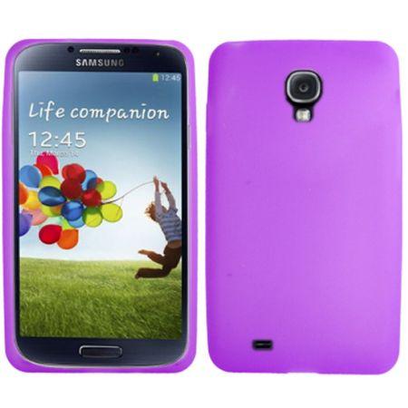 Schutzhülle Silikon Case für Handy Samsung Galaxy S4 GT-I9500 / GT-I9505 / LTE+ GT-I9506 / Value Edition GT-I9515 lila