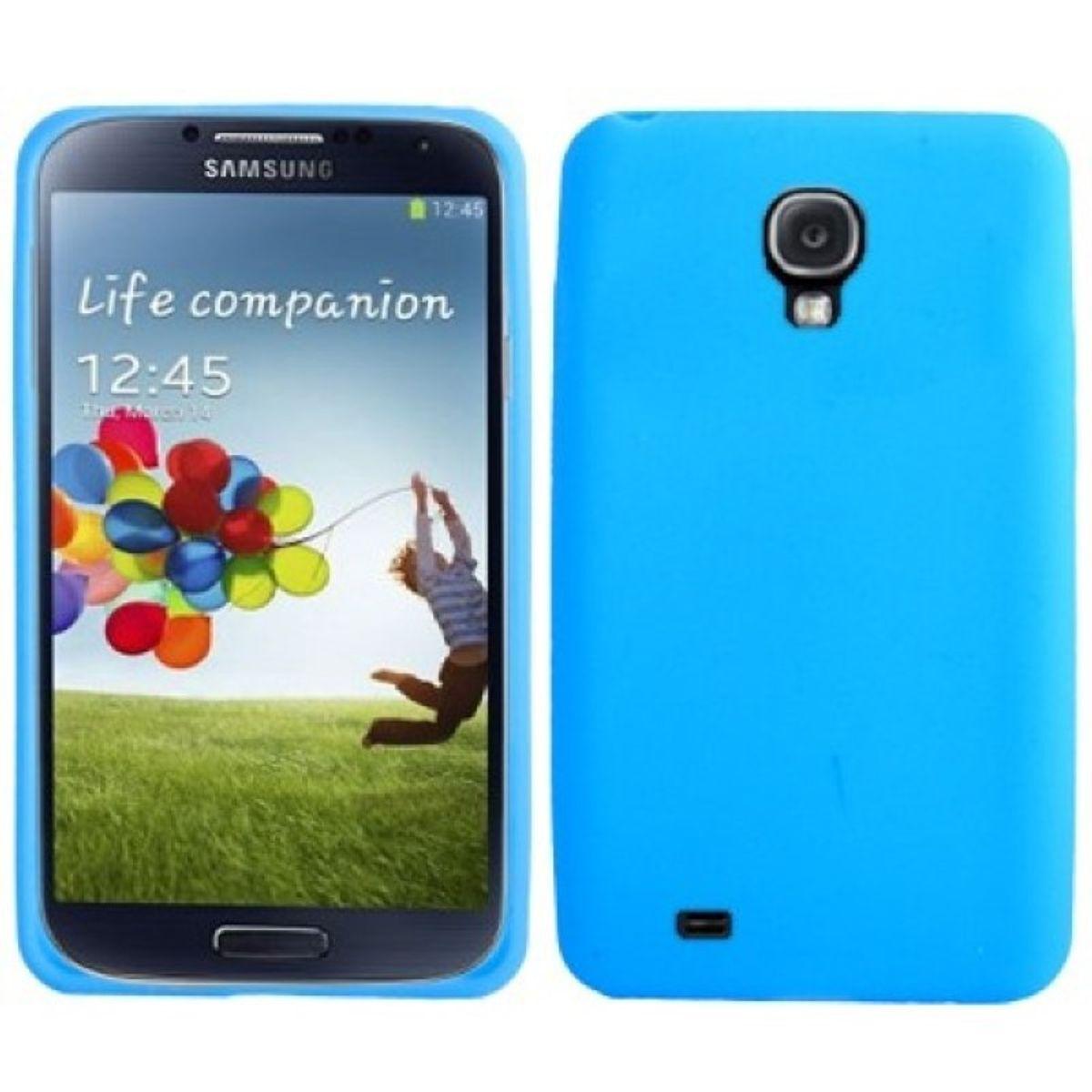 Schutzhülle Silikon Case für Handy Samsung Galaxy S4 GT-I9500 / GT-I9505 / LTE+ GT-I9506 / Value Edition GT-I9515 blau