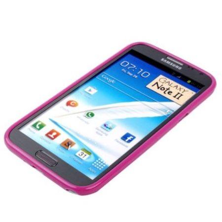 Schutzhülle TPU Case für Samsung Galaxy Note II N7100 pink – Bild 3
