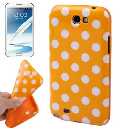 Schutzhülle TPU Case für Handy Samsung Galaxy Note II N7100 Orange