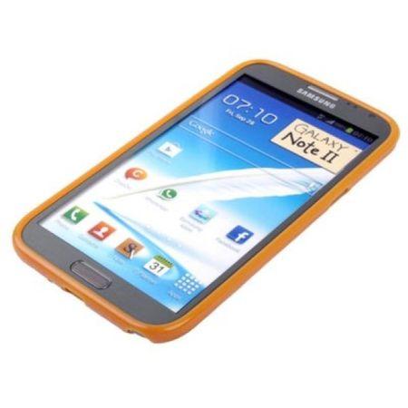 Schutzhülle TPU Case für Handy Samsung Galaxy Note II N7100 Orange – Bild 3