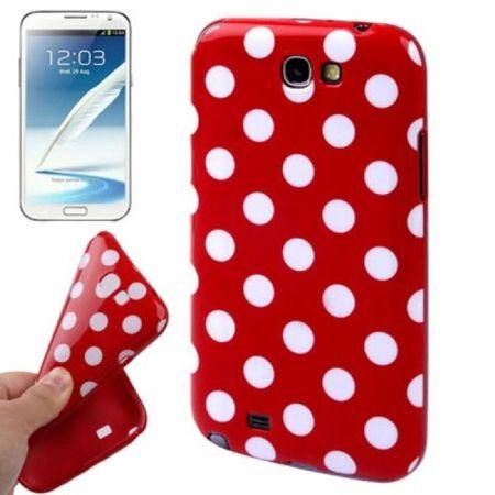 Schutzhülle TPU Case für Handy Samsung Galaxy Note II N7100 Rot