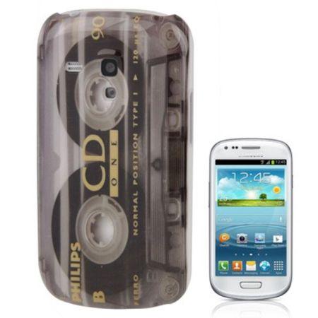 Handyhülle Kassettenmuster Hülle Case für Handy Samsung Galaxy S3 mini i8190 / i8195 / i8200