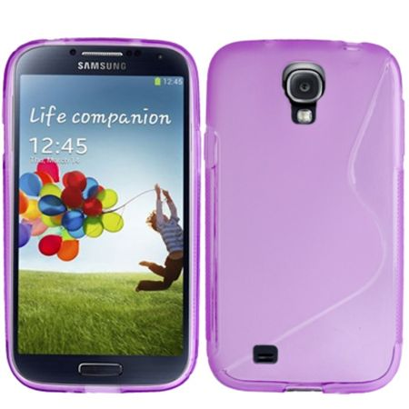 Schutzhülle TPU Case für Handy Samsung Galaxy S4 GT-I9500 / GT-I9505 / LTE+ GT-I9506 / Value Edition GT-I9515 Transparent Violett