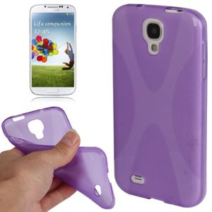 Schutzhülle TPU Case für Handy Samsung Galaxy S4 GT-I9500 / GT-I9505 / LTE+ GT-I9506 / Value Edition GT-I9515 Lila Transparent