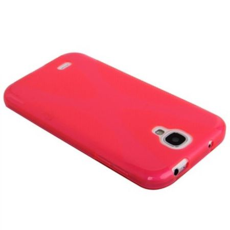 Schutzhülle TPU Case für Handy Samsung Galaxy S4 GT-I9500 / GT-I9505 / LTE+ GT-I9506 / Value Edition GT-I9515 Pink Transparent