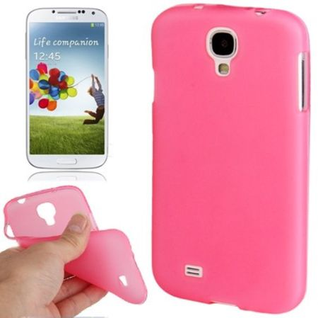 Schutzhülle TPU Case für Handy Samsung Galaxy S4 GT-I9500 / GT-I9505 / LTE+ GT-I9506 / Value Edition GT-I9515 Transparent Rosa