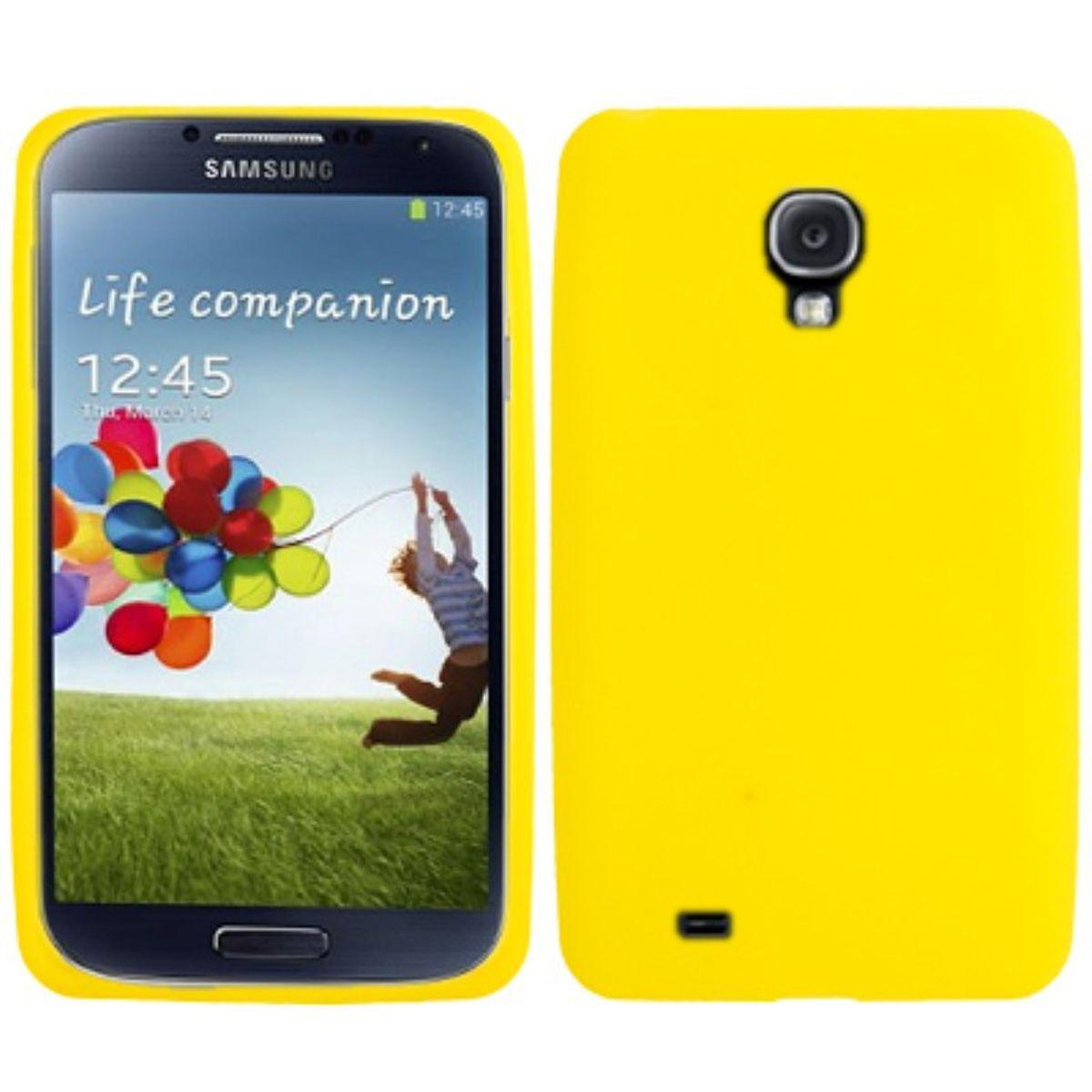 Schutzhülle Silikon Case für Handy Samsung Galaxy S4 GT-I9500 / GT-I9505 / LTE+ GT-I9506 / Value Edition GT-I9515 gelb