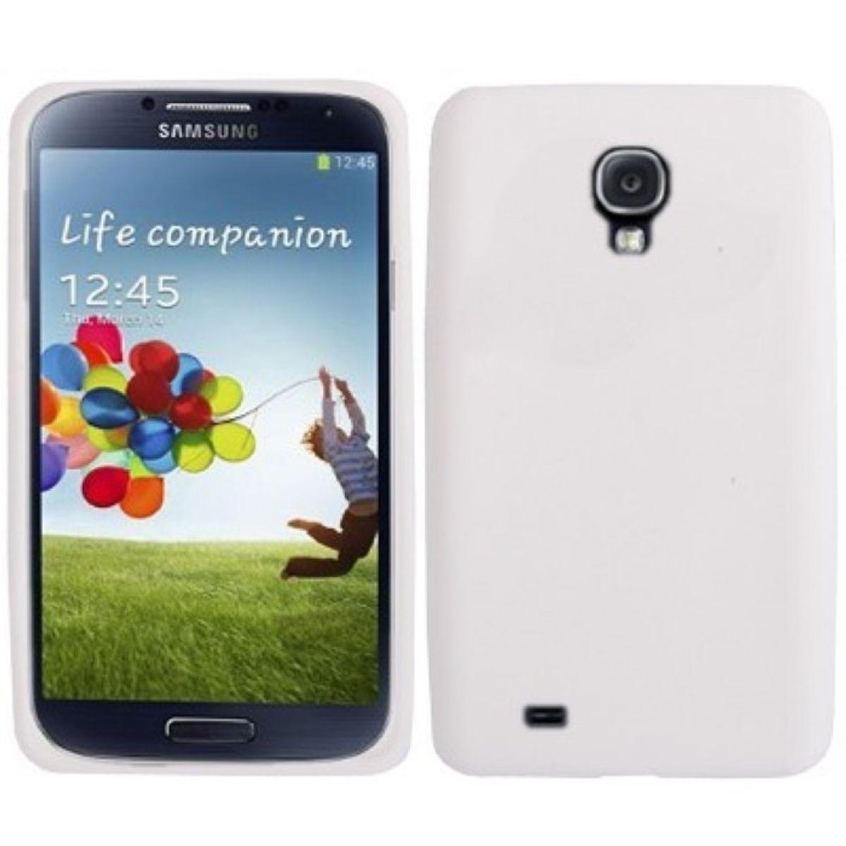 Schutzhülle Silikon Case für Handy Samsung Galaxy S4 GT-I9500 / GT-I9505 / LTE+ GT-I9506 / Value Edition GT-I9515 weiss