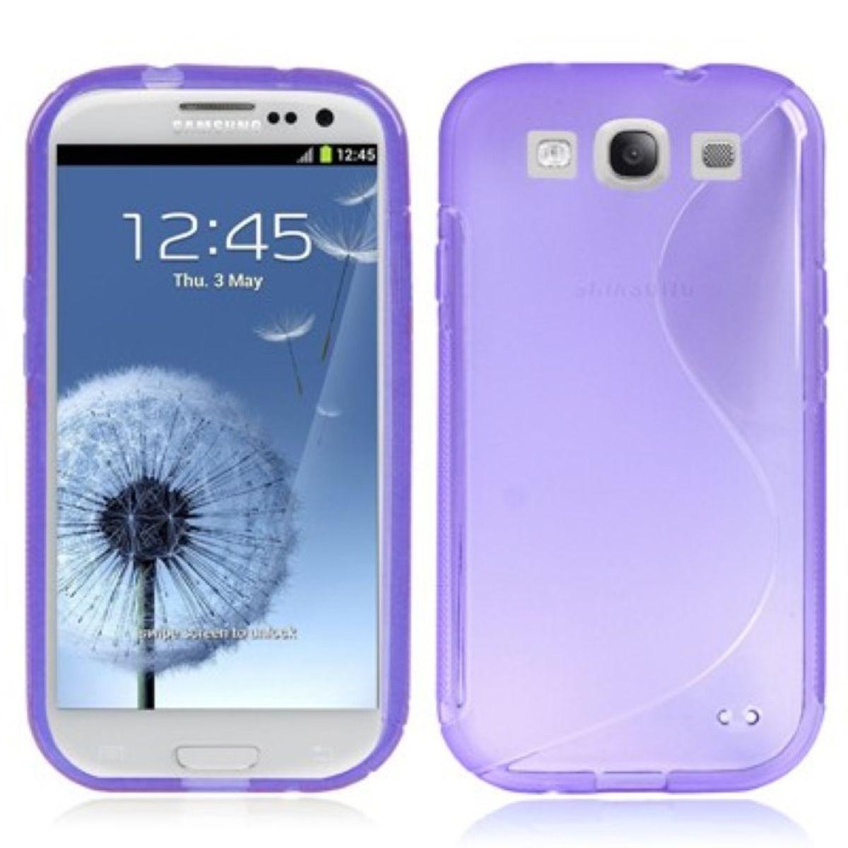 Schutzhülle TPU Case für Handy Samsung I9300 Galaxy S3 Transparent Lila