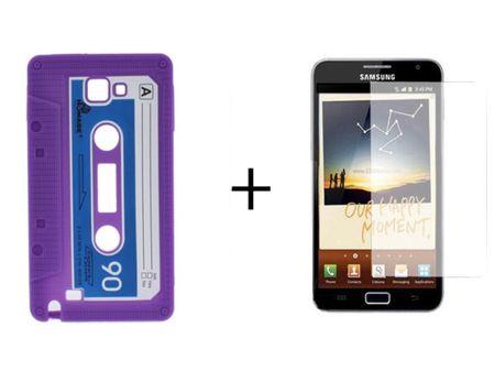 Schutzhülle Kassette für Handy Samsung Galaxy i9220 N7000 + Folie