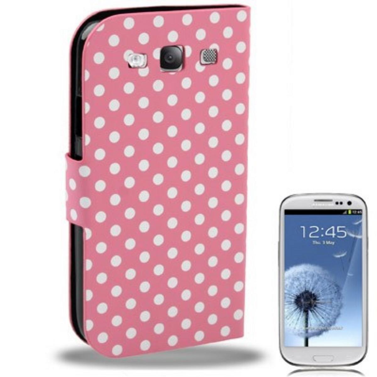 Schutzhülle Tasche Flip slim für Handy Samsung Galaxy S3 i9300 / i9305 / S3 NEO i9301 Rosa