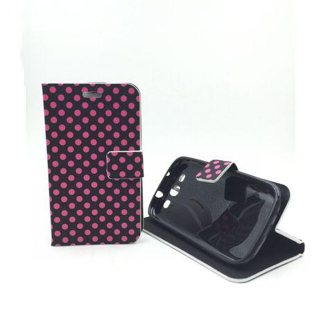 Schutzhülle Tasche Flip slim für Handy Samsung Galaxy S3 i9300 / i9305 / S3 NEO i9301 Schwarz / Pink