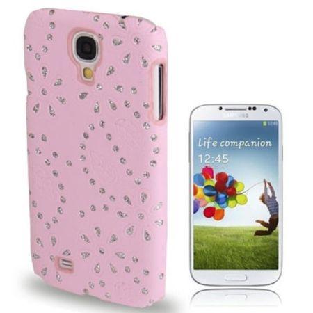 Schutzhülle Strass Case Hülle für Handy Samsung Galaxy S4 GT-I9500 / GT-I9505 / LTE+ GT-I9506 / Value Edition GT-I9515 pink